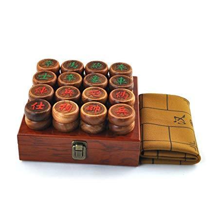 缅甸花梨木象棋(直径4.8cm 商务木盒) 189元