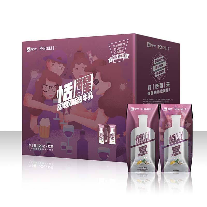 ¥25 蒙牛恬醒葛根清新芒果味风味酸牛乳200g*12盒