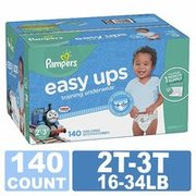 买两件送$20礼卡 Pampers Easy Ups 男童如厕训练裤热卖,适合 2T-5T,3尺寸可选'
