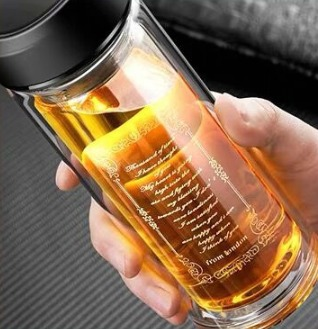 梦尚 MS-17003 双层隔热玻璃杯 300ml 6.9元包邮(需用券)