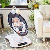 $196.37(原价$249.99) 近史低价 4moms mamaRoo 4 可连接蓝牙婴儿摇篮椅,5种运行模