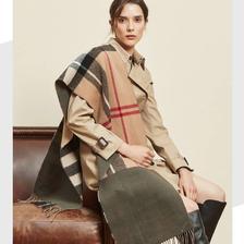 京东PLUS会员: 双面格纹羊毛围巾 93.55元包邮