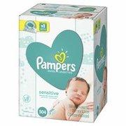 $12.49 美亚超千评价 4.2高分好评Pampers Sensitive 宝宝湿巾 504 片,无香型,敏感宝宝也适用'