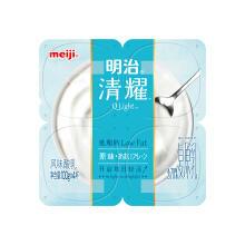 京东商城 meiji 明治 清耀低脂肪酸奶 原味100g*4盒*15件 107元包邮(合7.13元/件
