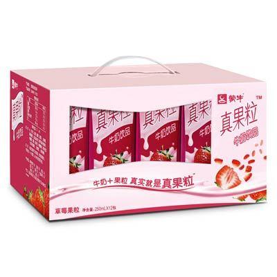 ¥18.45 蒙牛真果粒牛奶(草莓果粒)250ml*12盒