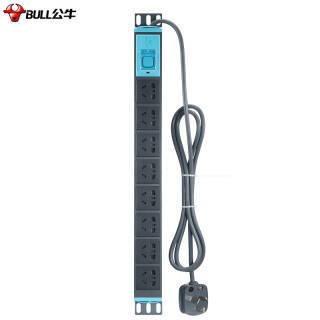 公牛(BULL)GNE-1080 1.8米 PDU机柜插座/插排/插线板/排插/接线板/拖线板 8位总控10A功率 146.9元