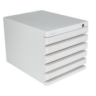 晨光(M&G)灰色五层桌面带锁文件柜资料收纳柜 单个装ADM95298 53元