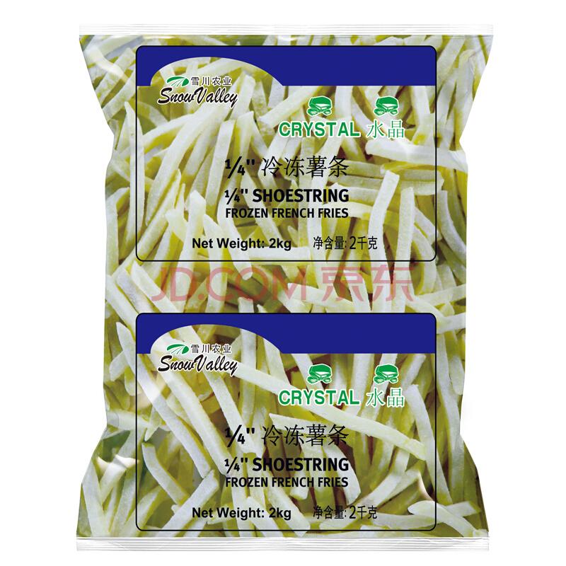 雪川食品 水晶冷冻薯条 1/4细薯条 2kg 42.9元,可优惠至21.4元