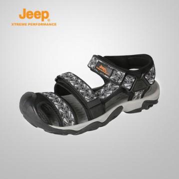 148元清仓价包邮!Jeep 吉普 男士沙滩鞋 休闲防滑户外凉鞋 领40元优惠券
