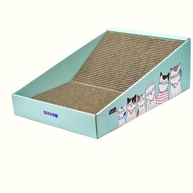 得酷 彩盒猫抓板 440*300*150*60mm 10.8元包邮