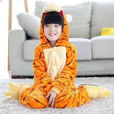 ¥19.9 卡通动物连体法兰绒睡衣儿童