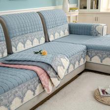四季沙发垫通用布艺防滑简约现代沙发套 券后5元