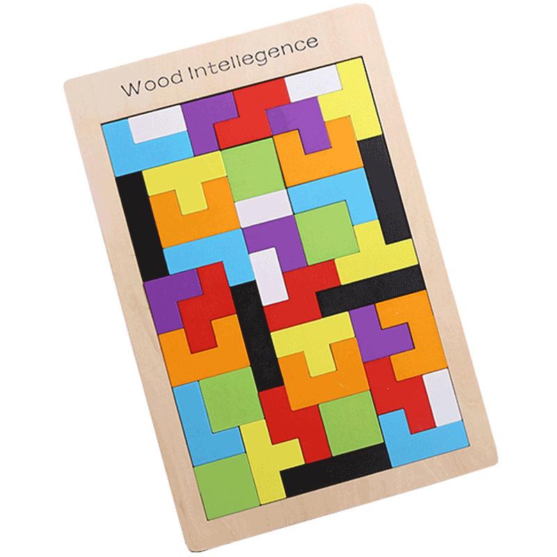 俄罗斯方块积木拼图 智慧拼板(配玩法图纸) 9.9元包邮(需用券)