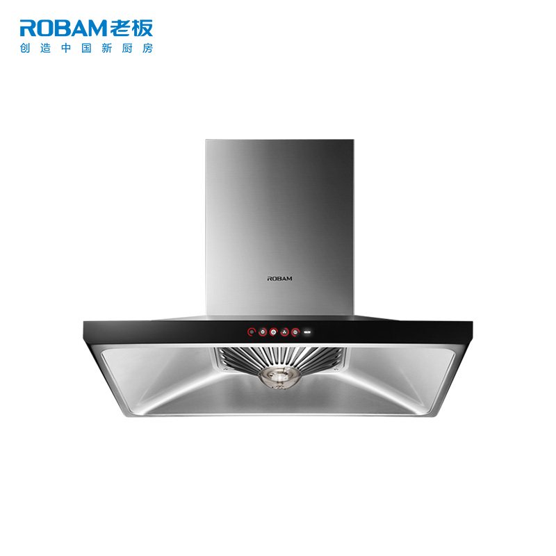Robam/老板 CXW-220-66A2H 欧式顶吸触控大吸力抽油烟机壁挂式  券后3699元