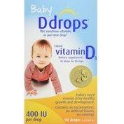 $10.83+包邮 Ddrops 哺乳期婴儿维生素D3滴剂 400IU 90滴