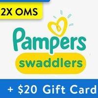 两箱送$20礼卡 单片$0.12起 Pampers 全系列婴儿纸尿裤热卖,收Swaddlers