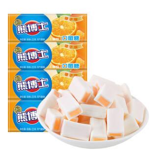 徐福记 熊博士 口嚼糖 儿童糖果 水果软糖 桔子味 休闲零食下午茶点心食品 22g*12 *3件 27.09元(合9.03元/件)