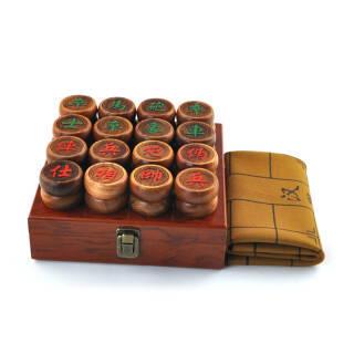 花梨木红木象棋套装 皮革象棋盘 5.8配商务木盒 324元