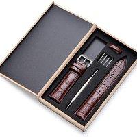 4种色款一律$9.99 Skydon 高品质短吻鳄鱼皮表带套装 轻松 DIY 换表带