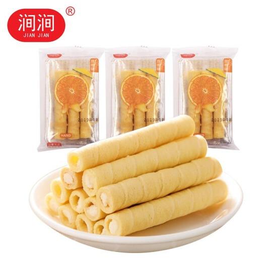 ¥1 PLUS会员!夹心香橙味蛋卷3小袋*6支