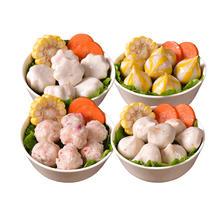 ¥44.9 【4种口味】海鲜火锅丸子套餐4袋 家庭团购豆捞火锅食材包心鱼丸