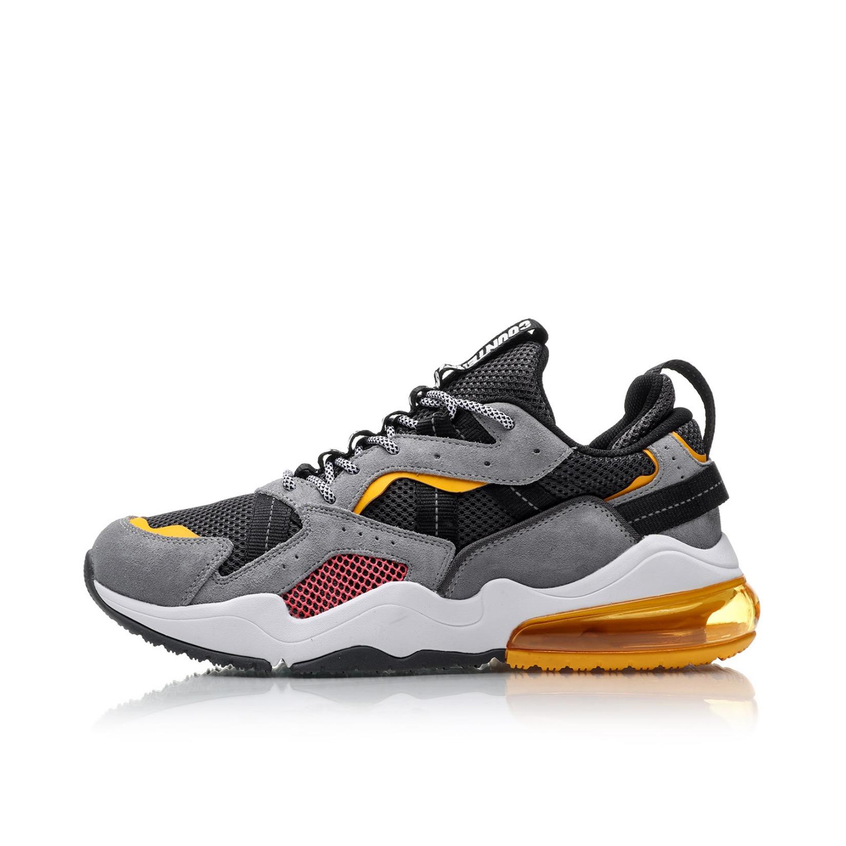 李宁 Counterflow源系列休闲鞋 AGCP272 灰/橙色 到手价168元