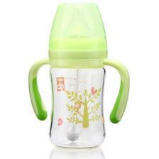 gb好孩子母乳实感宽口径握把吸管玻璃奶瓶180ml(小树系列) *5件 174.5元(合34.9