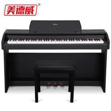 22日0点:美德威MIDWAY 电钢琴88键重锤电子钢琴 智能数码钢琴 MP2000X黑色升级