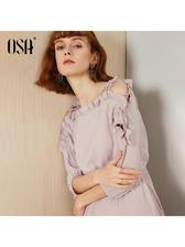 OSA 欧莎 中长款连衣裙 89元