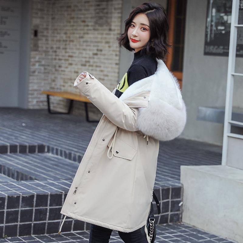 ¥128 棉衣女中长款过膝棉服外套