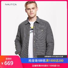NAUTICA 诺帝卡 NA003156 格子衬衫款羽绒服 669元