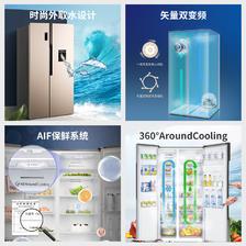 容声(Ronshen) BCD-587WD16HPR 587L 对开门 冰箱 3299元