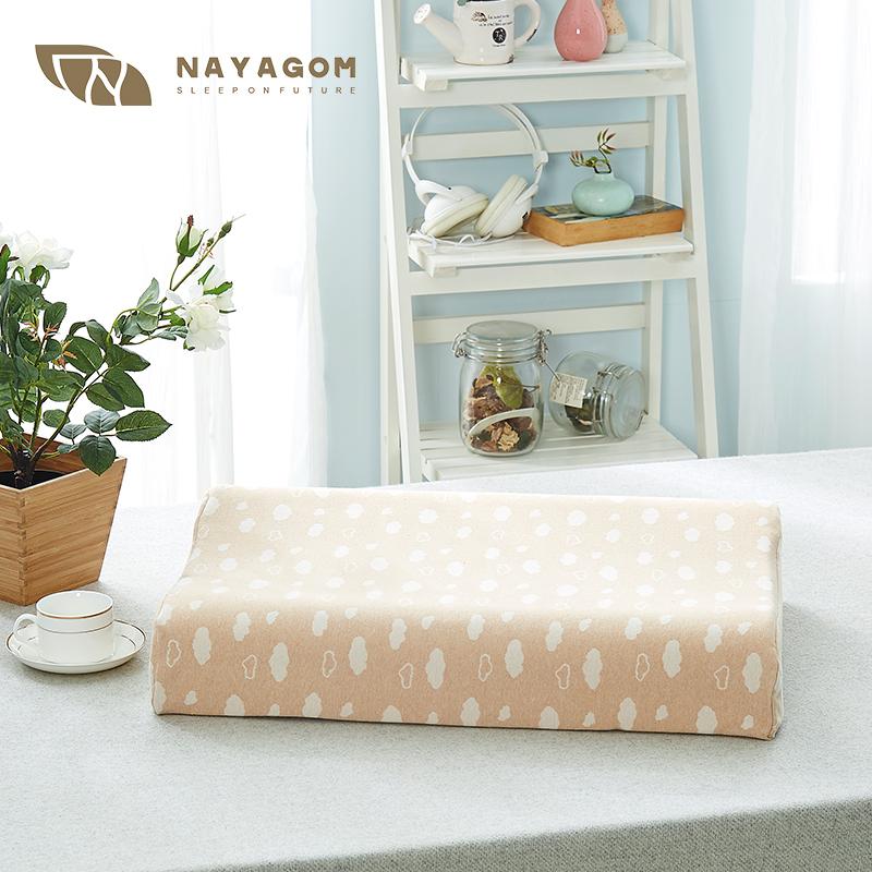 NAYAGOM/楠伢宫彩棉乳胶枕头套枕套天然无印染面料 提花工艺 96元
