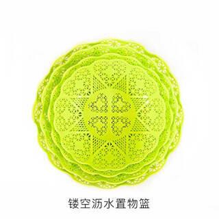 莜牧 Yom 欧式镂空洗菜篮 水果篮 圆果盆篮子 创意客厅塑料沥水篮 干果盘 水果盘 颜色随机 混色 小号1个装 5.9元