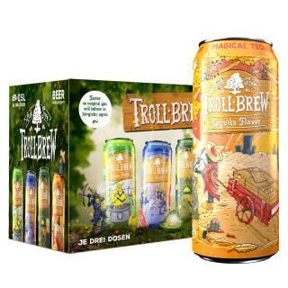 艾斯宝(troll brew) 精酿系列 龙舌兰啤酒500ml*8听 整箱装 德国进口 49元