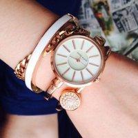 $48.99+包邮 Anne Klein 施华洛世奇玫瑰金腕表4件套