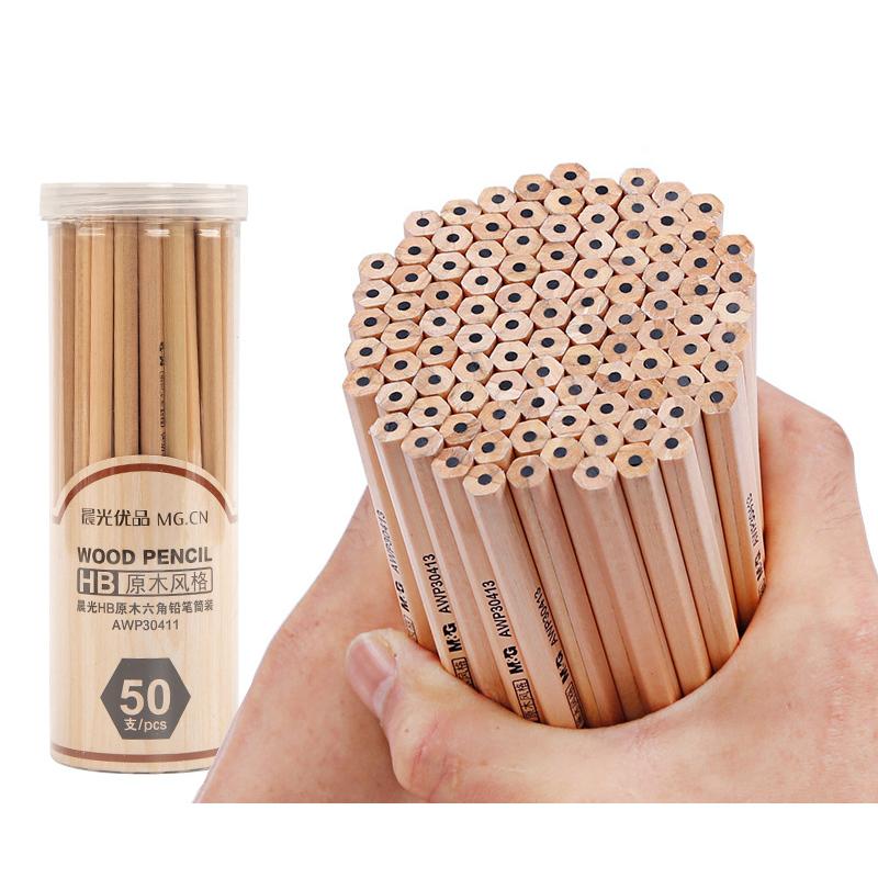晨光 原木铅笔 30支桶装 8.9元包邮(需用券)