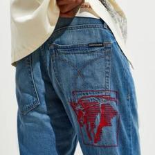 限时免邮!Calvin Klein Bison Slim Jean 男士修身牛仔裤