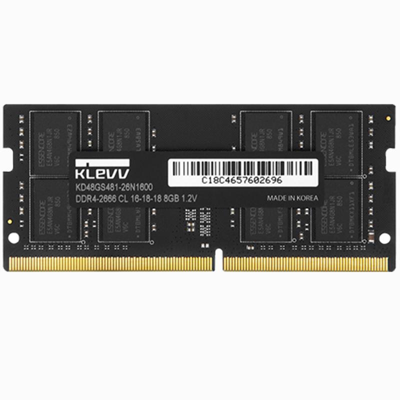 ¥199 KLEVV 科赋 DDR4 2666 笔记本内存条 8GB
