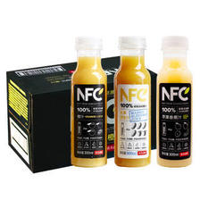 农夫山泉 NFC100%纯橙汁/芒果汁/苹果香蕉汁3口味混合24瓶 137元
