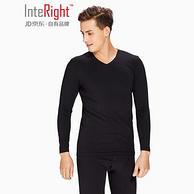 京东自有品牌,新一代50支京舒棉:2套 Interight 男士保暖内衣套装 2套37.2元