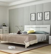 ¥2449 双虎家私 16H1 低箱床+2个床头柜+舒梦床垫 1.8m