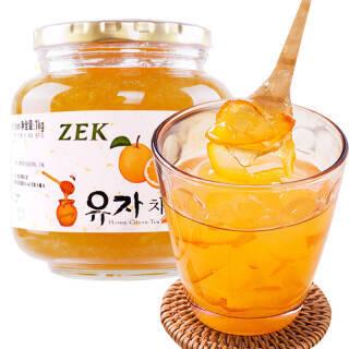 韩国进口 ZEK 蜂蜜柚子茶 原装进口水果茶果酱冲饮饮品 1000g *2件 51.55元(合25.78元/件)