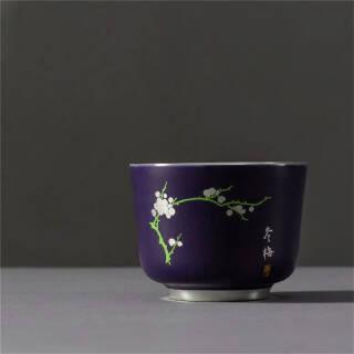 内镶银四季杯茶杯- 冬梅 99元