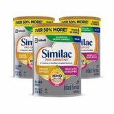 9.5折+额外6.5折+包邮 Similac 婴儿非转基因配方奶粉特卖
