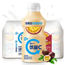 限四川:蒙牛 优益C 百香果 活菌型乳酸菌饮品 330ml*4瓶 *12件 +凑单品 111.37元