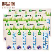 6月产 蒙牛纯牛奶网红牛奶早餐奶(散装) 200ml*12 14.45元