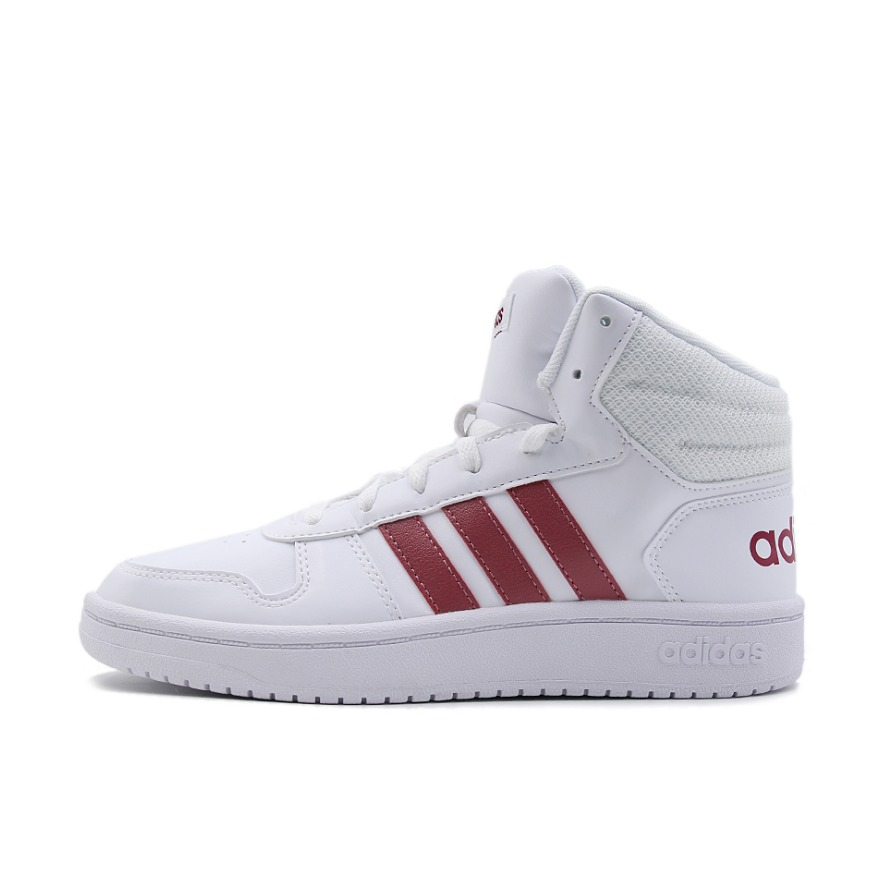 adidas Hoops 2.0 白色红标Mid 到手价299元