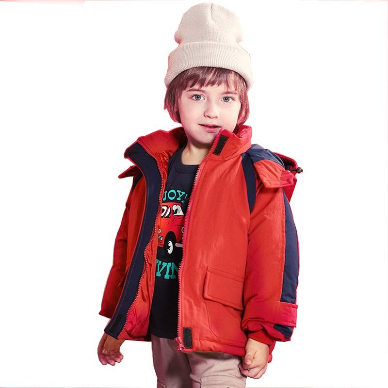 TAOERJ 儿童中长款加厚棉服 89元包邮(需用券)