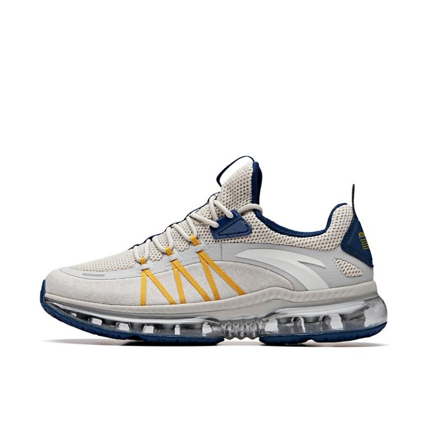 【返场识货】安踏 气垫缓震舒适跑鞋 灰蓝黄 领券立减20